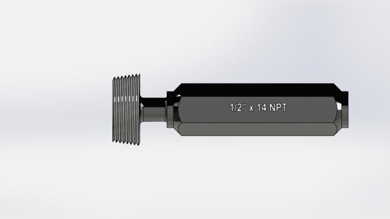 Calibrador tampão rosca npt